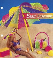 """BEACH  ENSEMBLE""~Plastic Canvas PATTERN~PATTERN ONLY fits BARBIE FASHION DOLL"