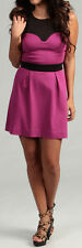 Jessica Simpson Women Junior's Sleeveless Colorblock Dress Pink/Black XSmall