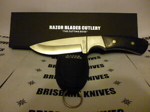 RAZOR BLADES THE ELITE HUNTER SKINNING HUNTING CAMPING KNIFE BOWIE 2NDS