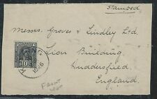 SARAWAK (P0701B) BROOKE 10C FRONT1926 KUCHING TO ENGLAND, FRONT ONLY