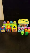 Fisher Price Toddler Toy Lot - Shape Sorter, Bug Pop - up, 3 Blocks