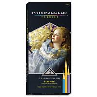Prismacolor 2476 Verithin Coloured Pencils, Assorted Colours, 12-Count
