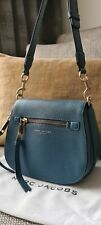 Marc Jacobs Crossbody Recruit Nomad Leather Bag In Blue colour