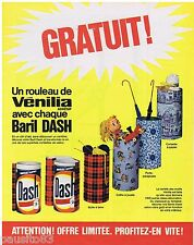 PUBLICITE ADVERTISING 105  1966   DASH  lessive en baril  décor VENILIA ADHESIF