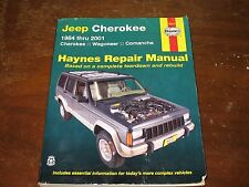 HAYNES Repair Manual 50010 JEEP CHEROKEE, WAGONEER, COMANCHE 1984-2001