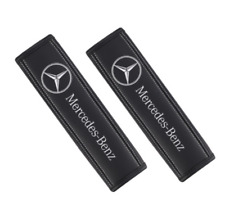 Pair Car Seat Belt Pads Shoulder Strap Cushion Covers For Mercedes-Benz