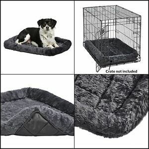 Puppy Pet Dog Cat Crate Cage Kennel Bed Cushion Soft Warm House Cozy Plush Small