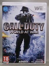 CALL OF DUTY WORLD AT WAR - NINTENDO WII - PAL ESPAÑA - COMPLETO