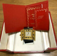 Rare Vinrage Authentic Cartier Table/Travel Alarm Clock with Case and papers
