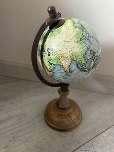 Globus Holz Geschenk Deko