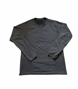 Lululemon Mens Gray Metal Vent Long Sleeve Workout Shirt Size Medium