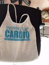 Material girl active shopping is my cardio tank top XS Used