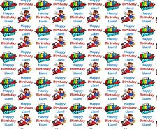 Personalised Gift Wrapping Paper SUPER MARIO Birthday Any Name!  SMB18