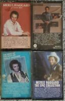 Lot of 4 Merle Haggard Cassettes --  Best of, Epic Collection, Family Bible, etc