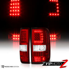 "2004-2008 Ford F150 XLT Factory Red ""C-Shape LED STRIP"" Tail Lights Brake Lamps"