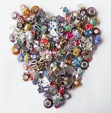 Pandora Charm Catalog + Mix 25pc Beads Charms Murano + 1 Bracelet Starter Kit