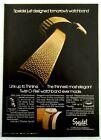 1972 SPIEDEL Thinline Twist-O-Flex Watchband Magazine Ad