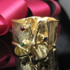 Zafiro esmeralda rubin plata 925 Sterling anillo talla 55 plata anillo señora oro 999