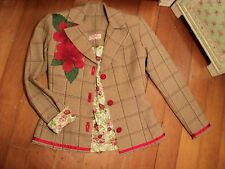 ali wood  ULTIMATE jacket  tweed hibiscus  shabby vintage roses floral alannah