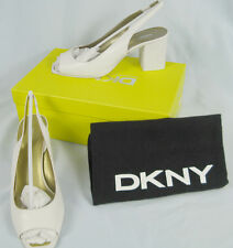 NEW $245 Donna Karan DKNY Shoes (Pumps Heels)!  8  *Off White*  *Italy*