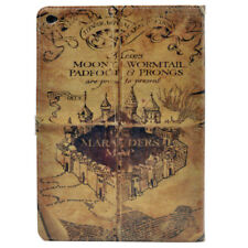 Harry Potter Vintage Marauders Map Leather Stand Case Cover For Apple ipad Air 2