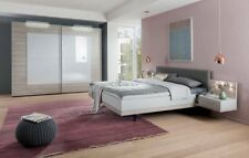 NOLTE MOBEL DESIGNER SLIDING WARDROBE BEDROOM SILK GREY WHITE GLASS FITTED FREE