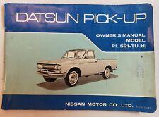 1970 Datsun PL521-TU(H) Pickup Truck Owner Owner's Manual User Guide Original