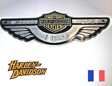 INSIGNE HARLEY DAVIDSON AUTOCOLLANT PLAQUE EMBLEME ALUMINUM LOGO ECUSSON  5
