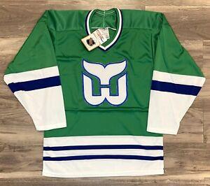 Hartford Whalers Vintage Deasdtock Hockey Jersey CCM 1989-1990 Retro Brand New S