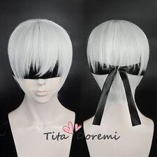Halloween Wig Cosplay NieR Automata 9S Silvery White Short Hair fashion