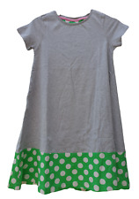 Ex Mini Boden Dress in Grey and Green Spot Design 9 10 11 12 NEW