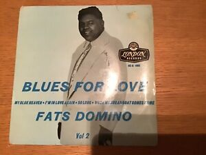 FATS DOMINO E.P BLUES FOR LOVE VOL 2 TRI CTR GOLD LETTERING LONDON VG SLEEVE VG