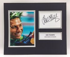 RARE Ian Thorpe Olympics Signed Photo Display + COA AUTOGRAPH SWIMMING