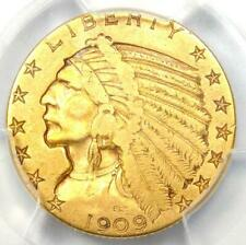 "1909-S Indian Gold Half Eagle $5 Coin - Certified PCGS VF25 - Rare ""S"" Mint!"