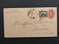 New Hampshire: Centreville 1903 (circa) #298 Registered Cover, DPO Carroll Co