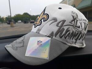 Men's 🏈 New Orleans Saints Reebok Super Bowl XLIV 44 Trophy Collection Hat