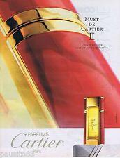 PUBLICITE ADVERTISING 095 1993 Must de Cartier II eau de parfum