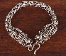 Vintage ChinA Tibet Silver Bracelet Dragon Sacred Mascot Lady Decoration Gift
