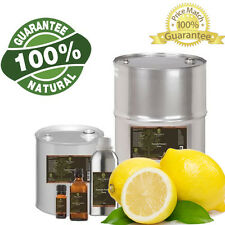 100% Pure and Natural Lemon Essential Oil 1 Gallon In PLASTIC Free Shipping
