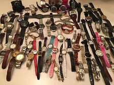 AWESOME LOT 70+ WRIST WATCHES (NEED BATTERIES) LADIES, MEN'S, SOME NAME BRANDS