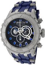 Invicta Subaqua Mens 52mm Swiss Quartz Chrono Titanium Dial Blue Poly Watch 0802