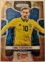 2018 PRIZM WORLD CUP SOCCER * EMIL FORSBERG #15/15 GOLD LAZER * PERFECT! SWEDEN!
