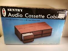 Vintage Sentry Audio Cassette Storage Cabinet holds 33 Cassettes or 48, NOS,