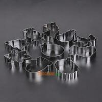 10pcs/Set Stainless Steel Biscuit Mold Cookie Cake Paste Fondant Cutter Mould