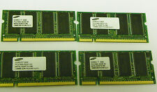 Lot of 4 128MB DDR PC2100 Samsung Laptop Memory