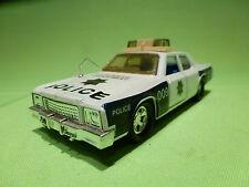 MATCHBOX SUPERKINGS 1979 - PLYMOUTH GRAN FURY  - POLICE - VERY GOOD