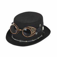 Adult Steampunk Top Hat & Goggles Victorian Industrial Fancy Dress Accessory