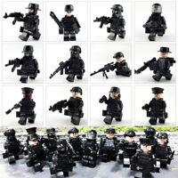 12 PCS SWAT POLICE militaire Mini figures arme armée SS soldat Fit Lego jouets