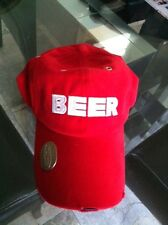 Red Beer Hat with Bottle Opener on Bill
