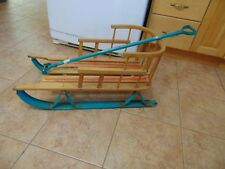 vintage,  wooden  BABY SLEIGH   nice   #   5453